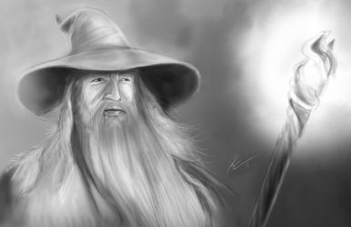 Gandalf the Grey by KevinG-art