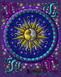 The Roots of Design: Coloring Comp Entry July 2015 by Meaeshana