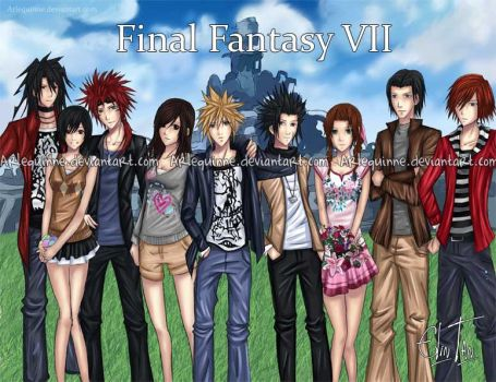 Final Fantasy VII by ElinTan