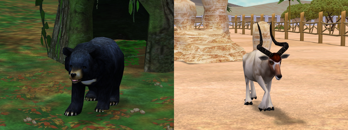 ZT2: Asiatic Black Bear and Addax Download by horse14t
