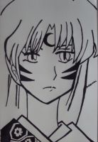 Black and White Sesshomaru by NTashio