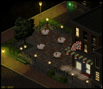 Outdoor Cafe At Night by lenstu82