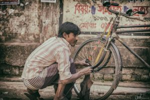 Cleaning the Wheel by Koustubh-Dhar-Wrick
