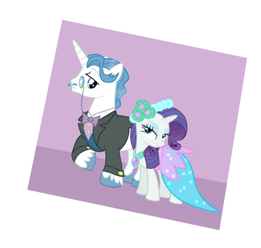 Rarity x Fancy Pants at the RW by allthevectors
