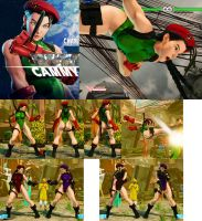 Non Jacked Cammy with Black Hair SFV by bbbSFXT
