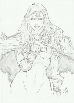 Red Sonja Commission by E-Blake
