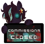 CM -  Lunar Arrow Commissions Closed Stamp by InkCartoon