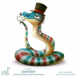 Daily Paint 2039# Sirpent by Cryptid-Creations