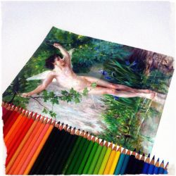 Bouguereau in Colored Pencils by vampyre1