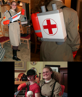 TF2 Cosplay - Medic by Tuba-dragoness