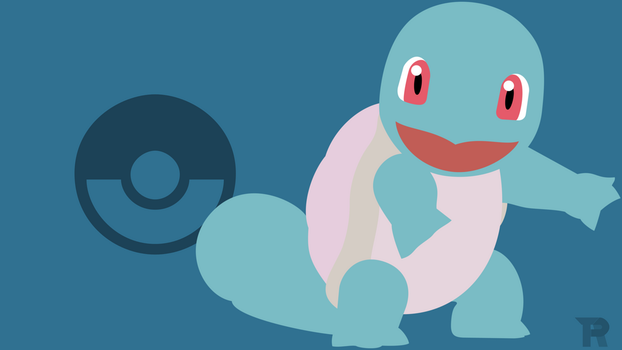 Squirtle Minimalist White by turpinator77