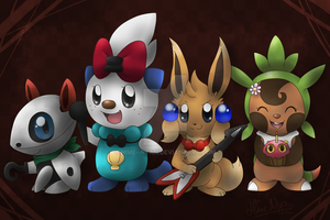 Team SilverShell's costumes! by Hime--Nyan