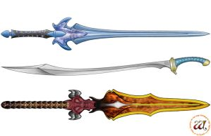 Colored Weapon Set by naraphim