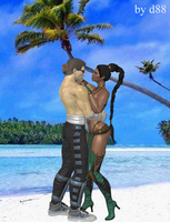 Johnny Cage and Jade by dim1988