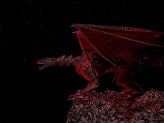Dragon and Cliff 3 by 3D-Studio-Mike