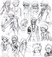 Law Sketches Part 01 by Captain--Ruffy