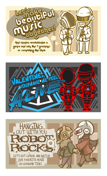 Daft Punk Valentines by avroillusion