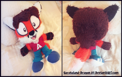 Commission: Small 'A' Plushie by Sarasaland-Dragon