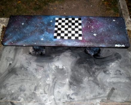 Space seat + chessboard by Johnny-Aza