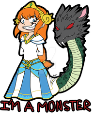 SMITE FanArt - Scylla - I'm A Monster by Eternalshadow64