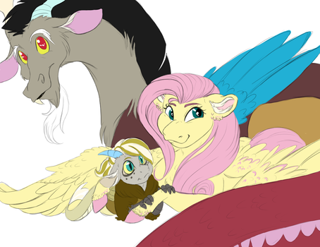 Fluttercord family photo by Jaw2002
