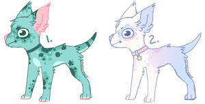 Sparkly Canine Adopts - (CLOSED) by all-type-adopts