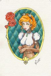 Steampunk Lady Postcard by VictoriaSaviles