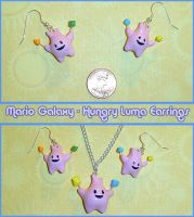 Mario Galaxy - Hungry Luma Charm Jewelry Set by YellerCrakka