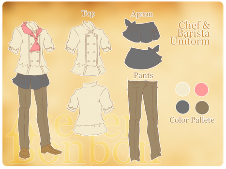 ABB: Chef and Barista Uniform by Fuouo