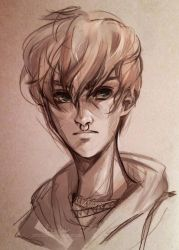 Young Remus Lupin   Speedpaint by MitsouParker