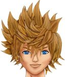 Roxas halfway there by MeganSora