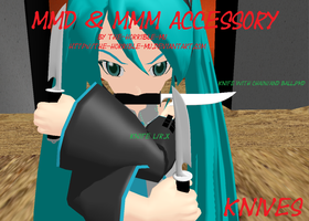 [MMD + M3 Accessory] Knife + DL by The-Horrible-Mu