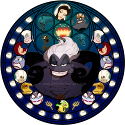 Ursula stained glass by jeorje90