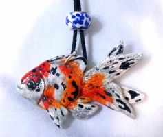 Goldfish Pendant by MaryBunnie