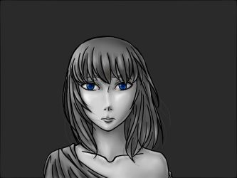 Blue in Grey by WingsOfInnerDarkness