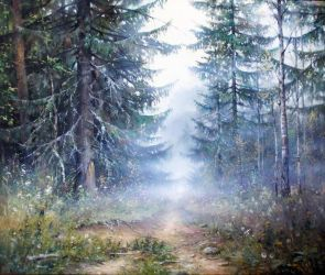 Fog in the forest. by AwaaraC