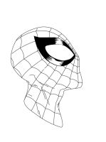 Spider-Man Face Sketch - Inked by Roach97