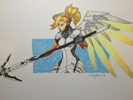 Mercy. Heroes never die! by amonkeyonacid