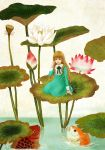 Thumbelina and fish by sumire77