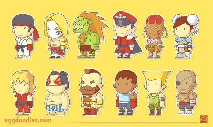 Street Fighter X Scribblenauts by ushio18