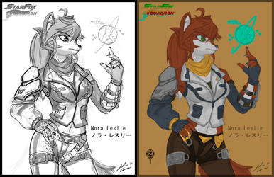 Coloured Star Fox OC: Nora Leslie by JECBrush by YakovZed007