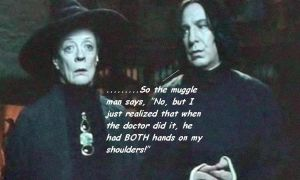 Snape tells a dirty joke by barguestspirit
