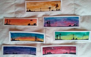 Landscape Bookmarks by QuixoticChipmunk