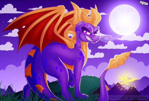 Spyro the Dragon by Amanddica