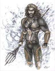 Aquaman Commission  by Dawn-McTeigue
