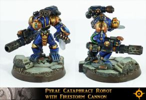 Cataphract Robot With Firestorm Cannon by Proiteus