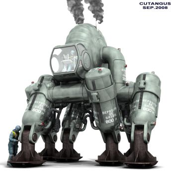 MECHANICAL ELEFANT I by CUTANGUS