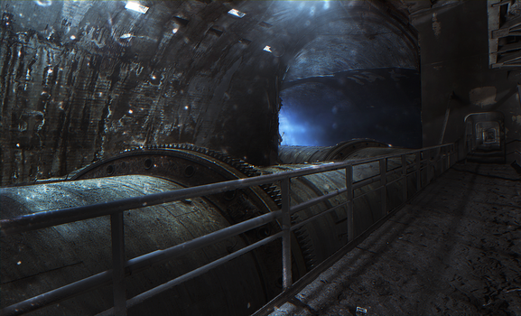 Portal 2: Underground Pipe by demol1sher