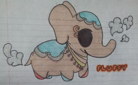 Teacup Elephant - Fluffy by MaleticAnimeWatcher