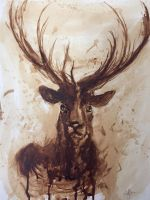Wildlife painted with coffee#1 by TheArtOfRoffler